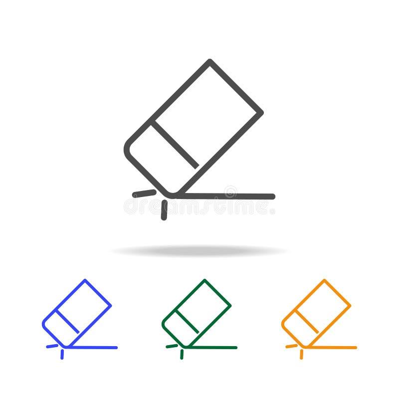 une bande élastique pour des icônes de papiers Élément d'edecation pour les apps mobiles de concept et de Web La ligne mince icôn illustration de vecteur