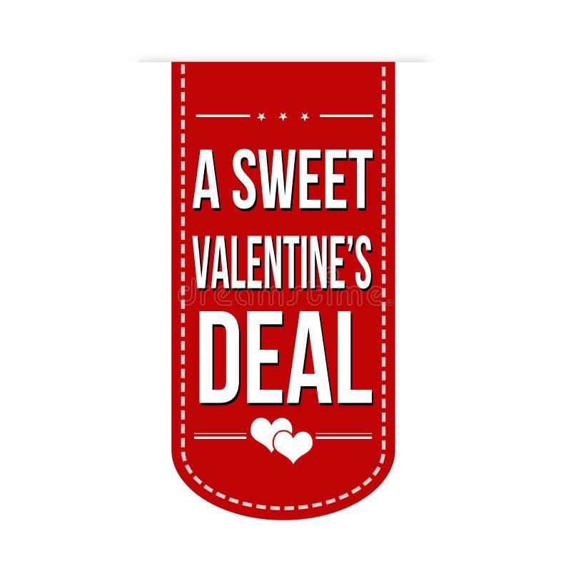Une bannière douce d'affaire de valentines illustration de vecteur