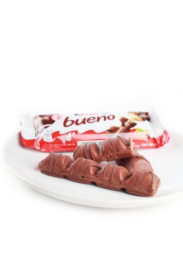 Une barre de chocolat plus aimable de bueno photo stock