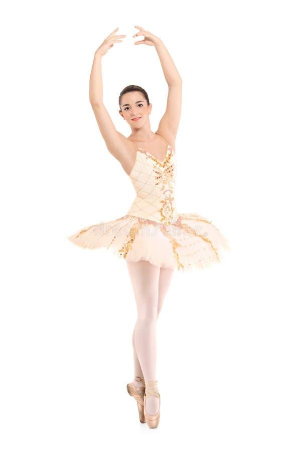 Une belle danseuse de ballerine photo stock