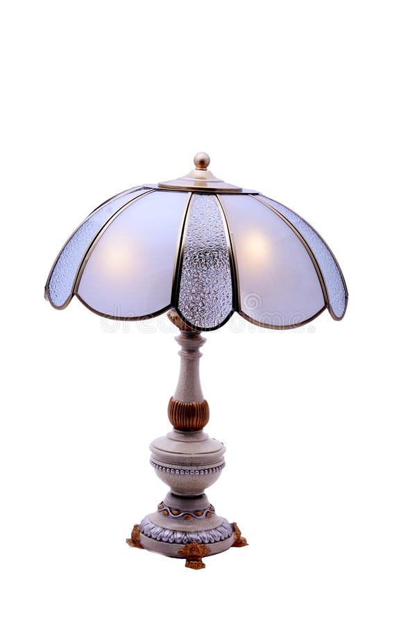 Une belle lampe de table avec la forme du pétale de lotus photos libres de droits