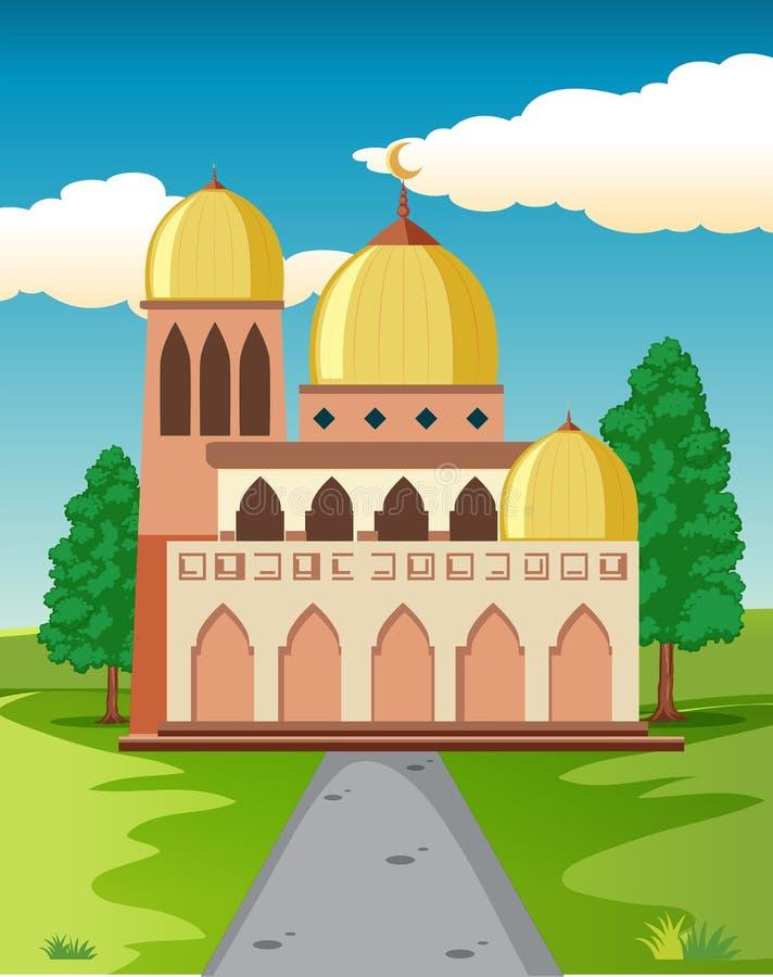 Une belle mosquée en nature illustration de vecteur