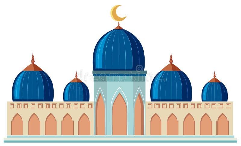 Une belle mosquée sur le fond blanc illustration stock