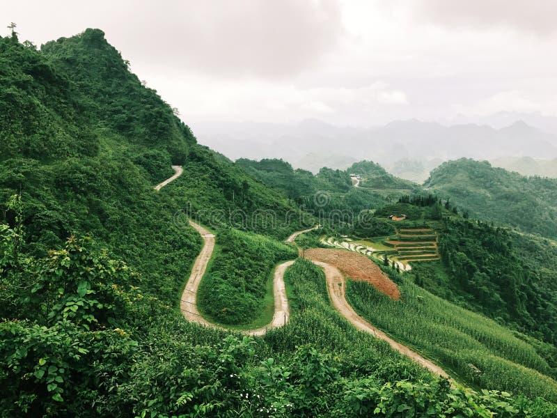 Une belle scène de Ha Giang images stock