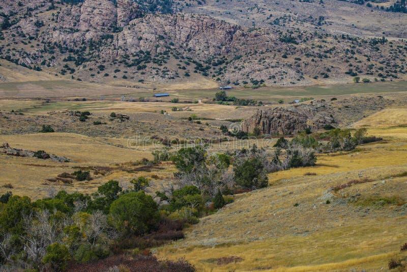Une belle vue scénique du Wyoming image libre de droits