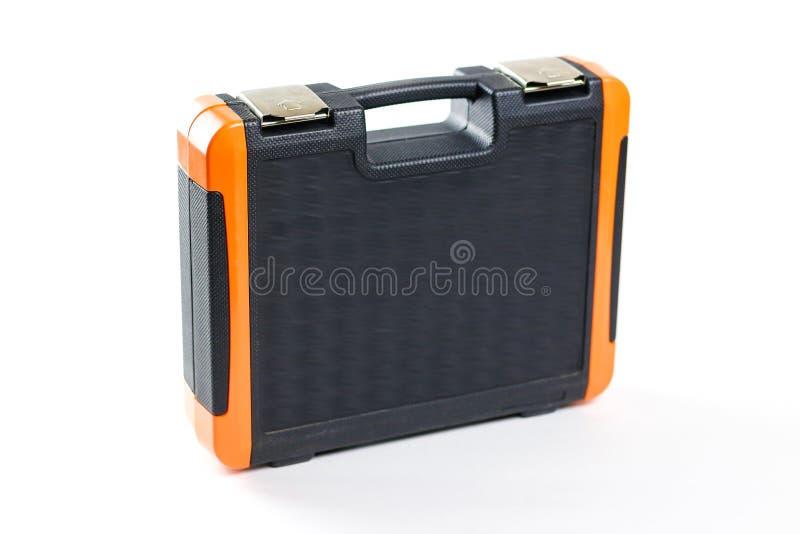Une boîte d'outils Trousse à outils pour la voiture D'isolement sur le backgrou blanc photographie stock libre de droits