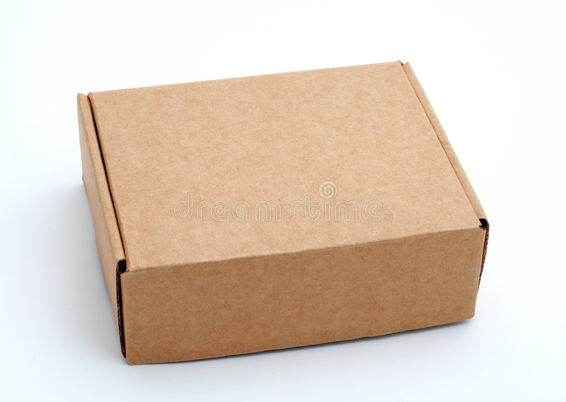 Une boîte en carton fermée photo stock