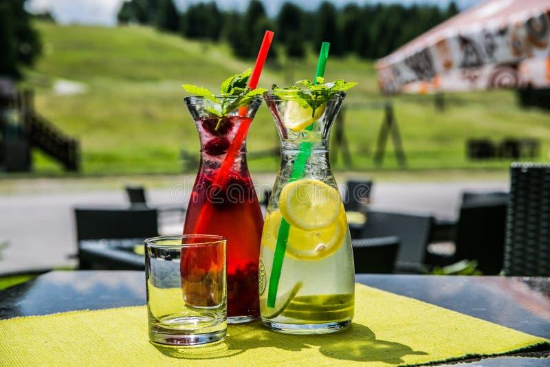 Une boisson glacée régénératrice d'agrume d'été photos stock