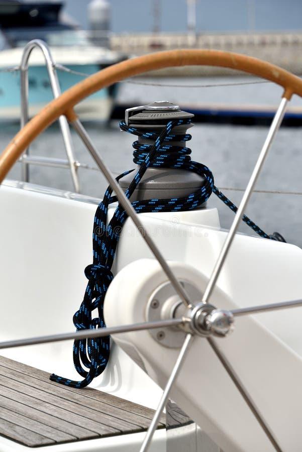 Une borne de yacht image libre de droits