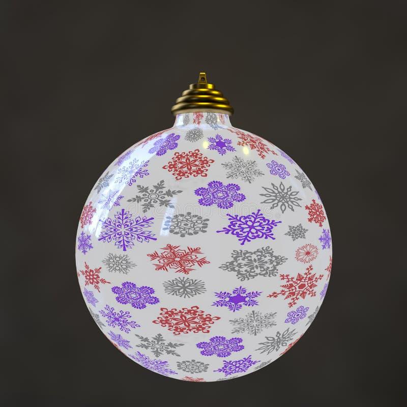Une boule de Noël sur le fond noir illustration de vecteur