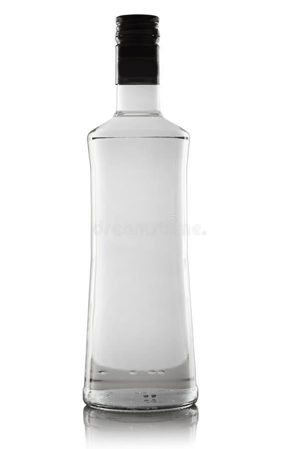 Casse du fond dune bouteille en verre avec la paume
