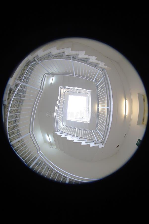 une caisse en spirale d'escalier a fait le ‹d'†de ‹d'†du béton au HK photo stock