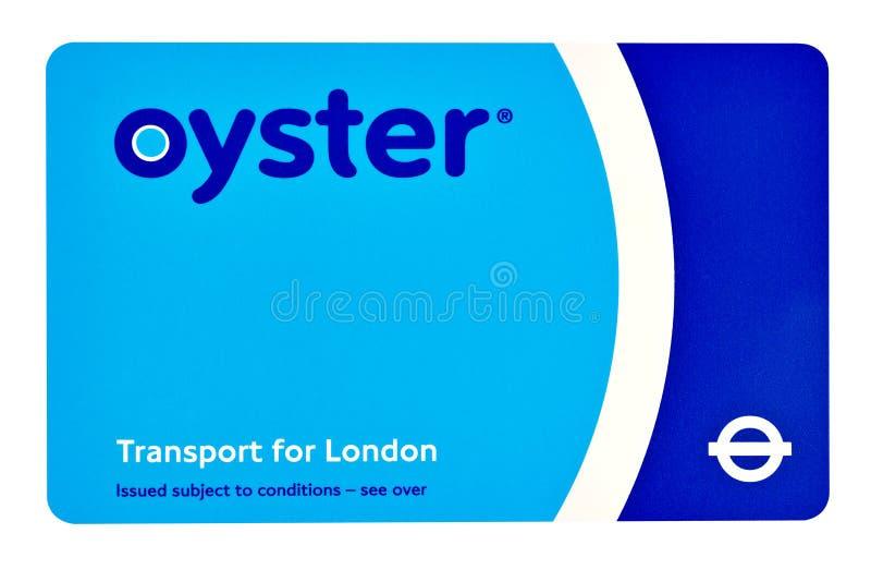 Une carte d'huître de TFL à Londres sur un fond blanc photos stock