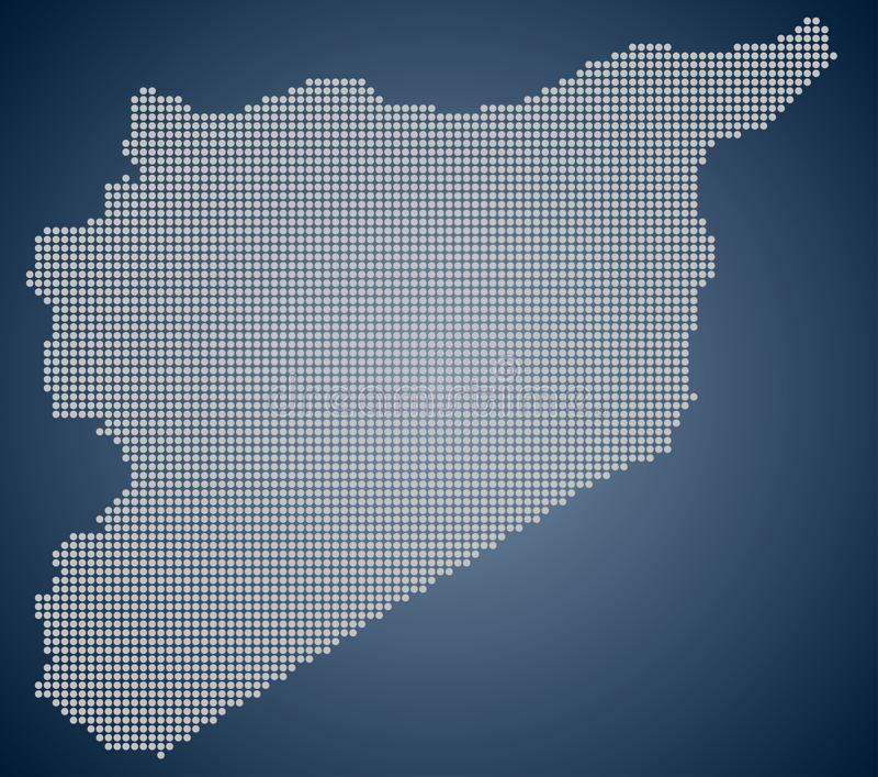 Une carte de la Syrie, pixel illustration stock
