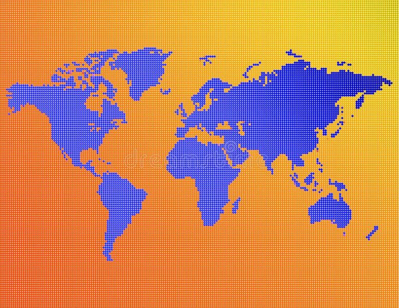 Download Une carte du monde illustration stock. Illustration du nation - 77290