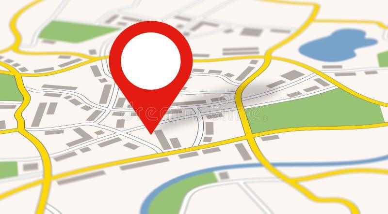 Une carte générique de ville avec une icône illustration de vecteur