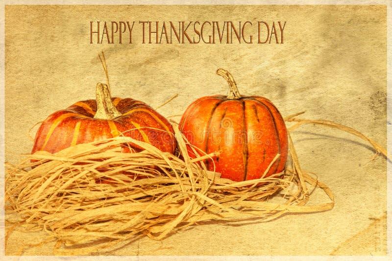 Une carte heureuse de thanksgiving images libres de droits