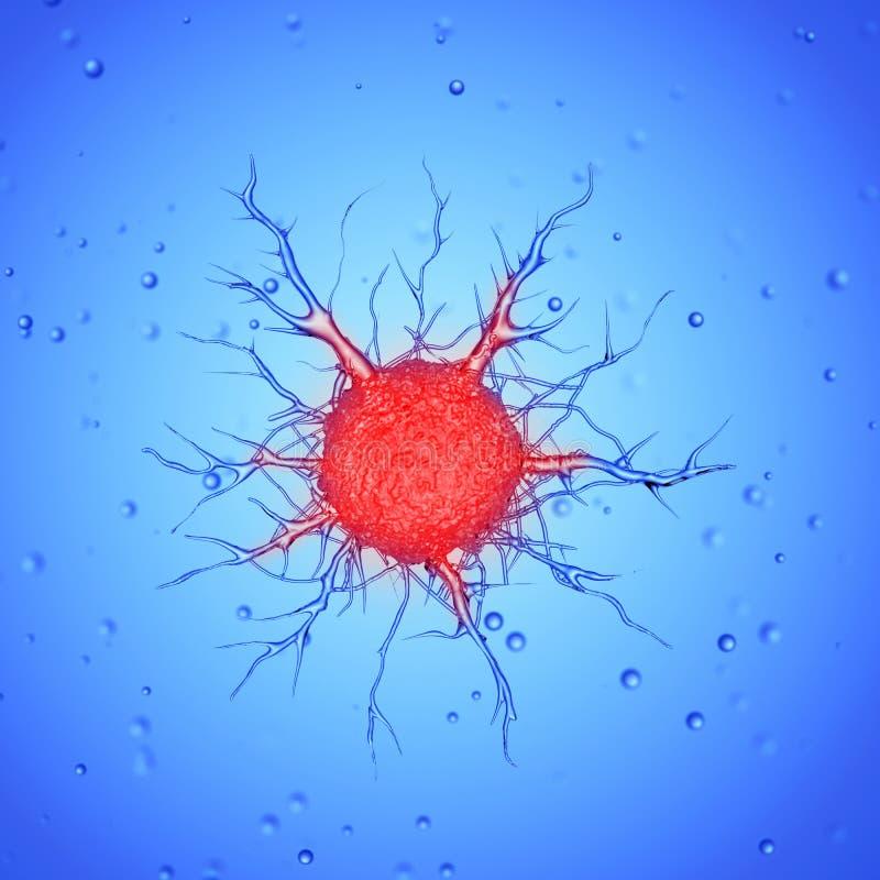 Une cellule cancéreuse illustration stock