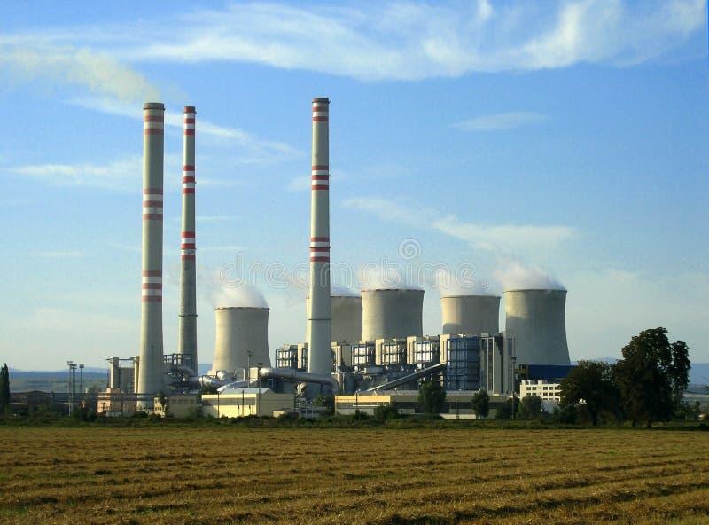 Une centrale électrique image stock