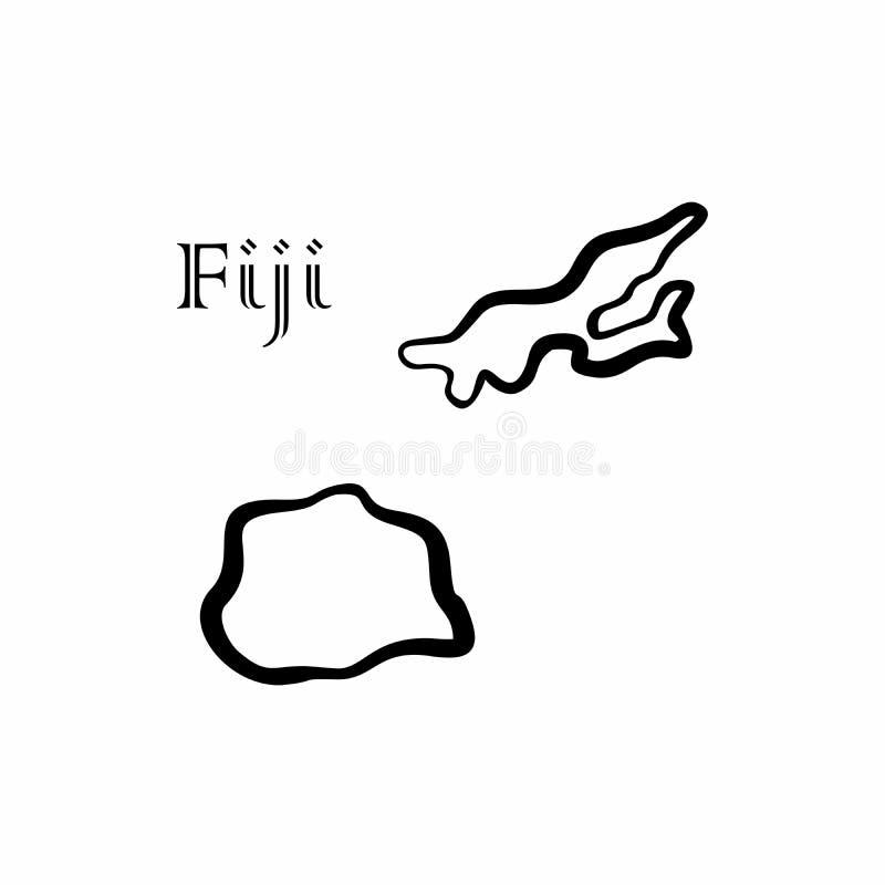 Une certaine carte du Fiji illustration libre de droits