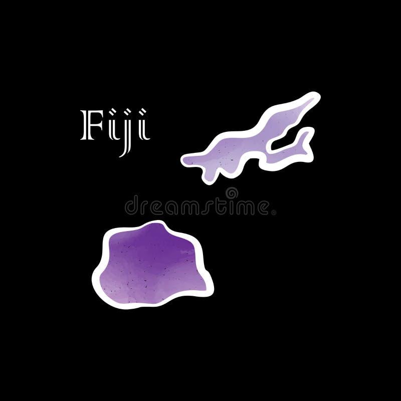 Une certaine carte W du Fiji illustration libre de droits