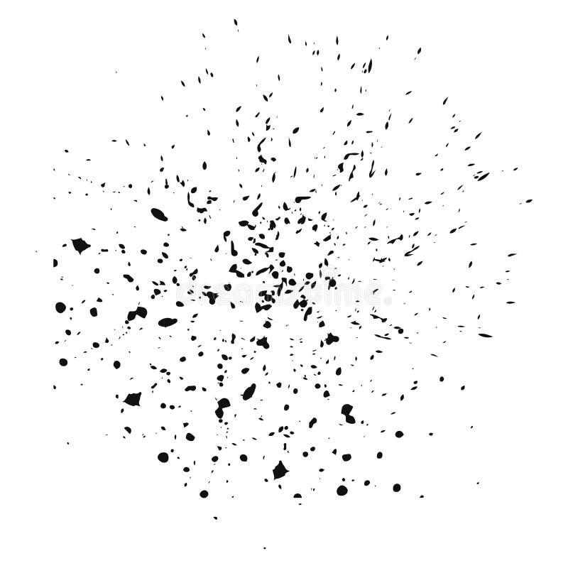 Une collection de noir d'isolement éclabousse la bannière peinte à la main abstraite sale de courses de brosse de fond pour créer illustration libre de droits