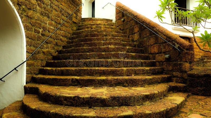 Une conception antique dans le fort de Goa photos libres de droits