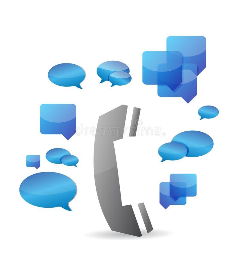Une conception d'illustration de concept de causerie de téléphone portable illustration libre de droits