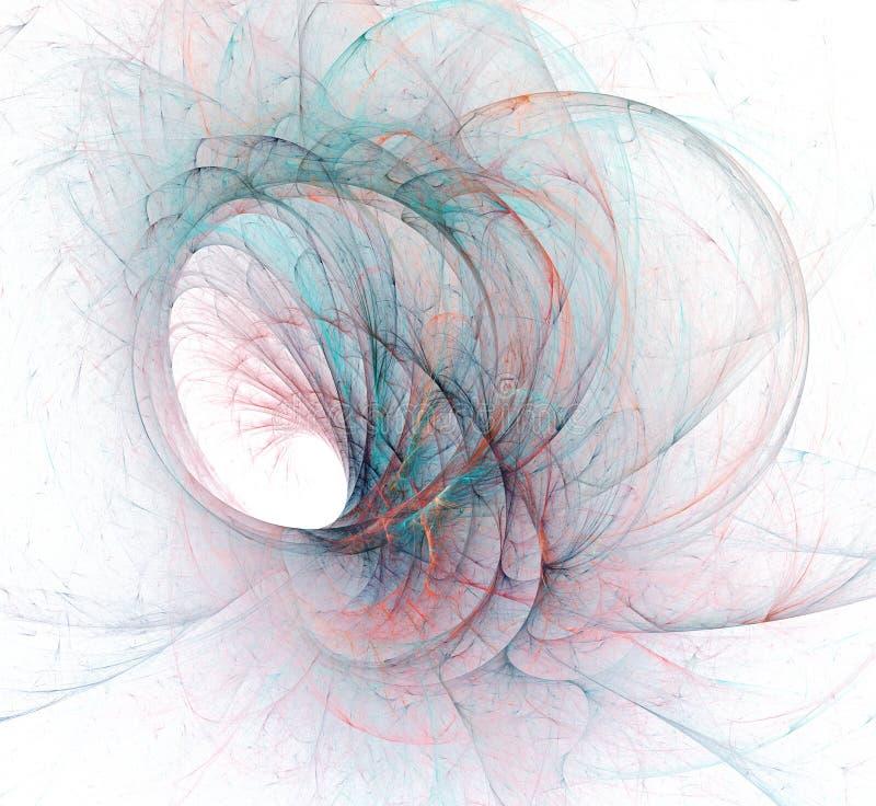 Une conception moderne générée par ordinateur abstraite de fractale Texture abstraite de couleur de fractale Pirouette rouge-fonc illustration de vecteur