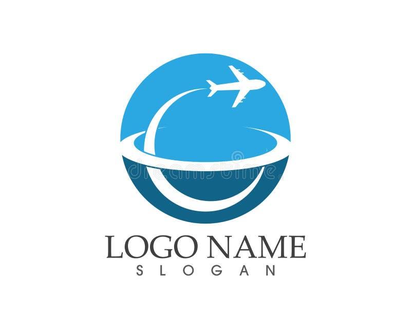 Une conception plus rapide de logo de voyage d'affaires illustration de vecteur