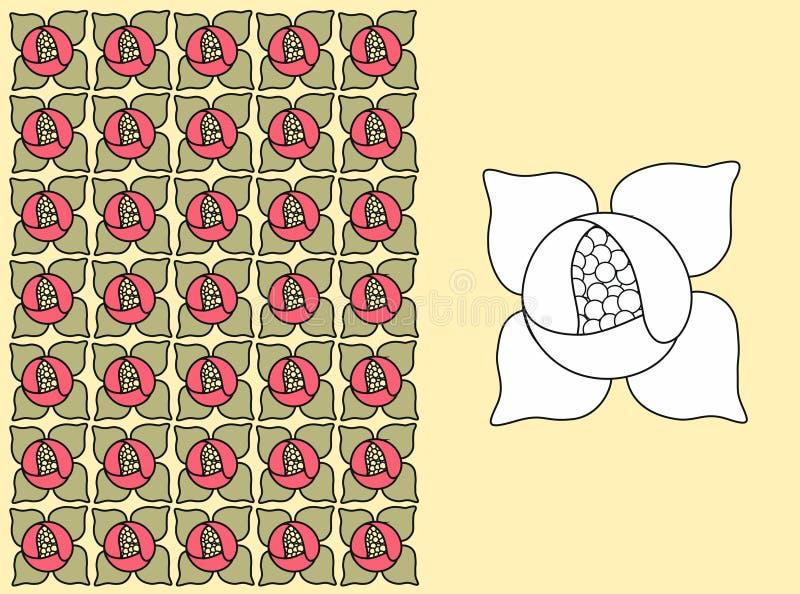 Une configuration florale - lis d'eau photos stock