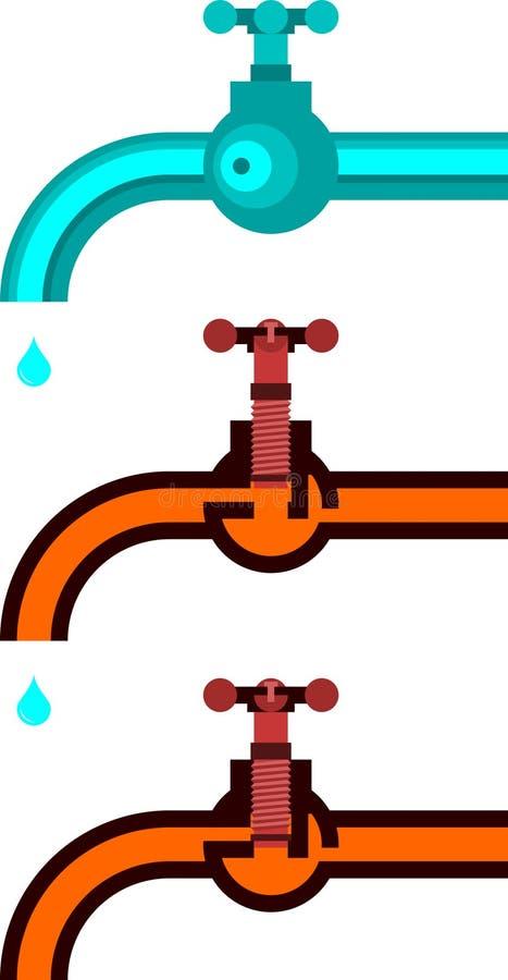 Une construction de robinet d'eau illustration libre de droits