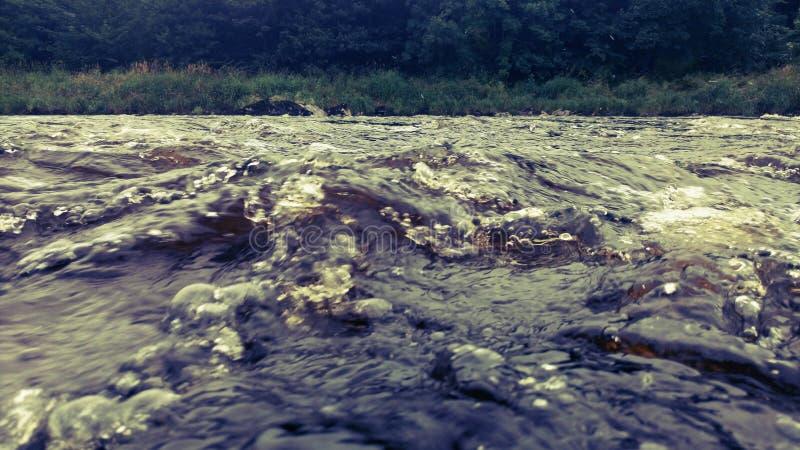 Une convergence de l'eau photographie stock libre de droits
