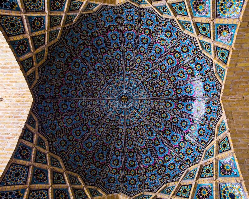 Une coupole en Nasir al-Mulk Mosque, Chiraz, Iran photos libres de droits