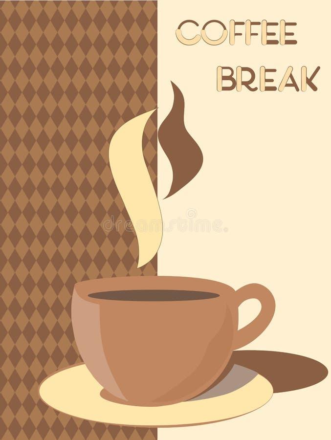 Une cuvette de café illustration libre de droits