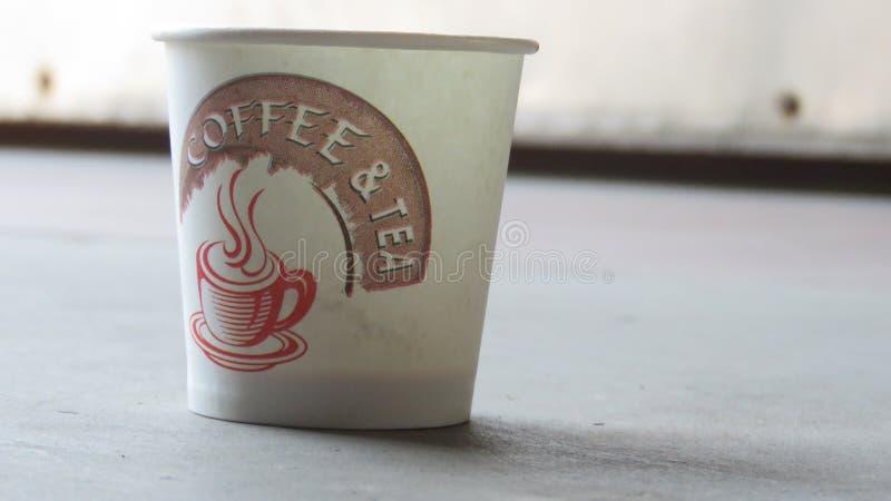 Une cuvette de café vide image libre de droits