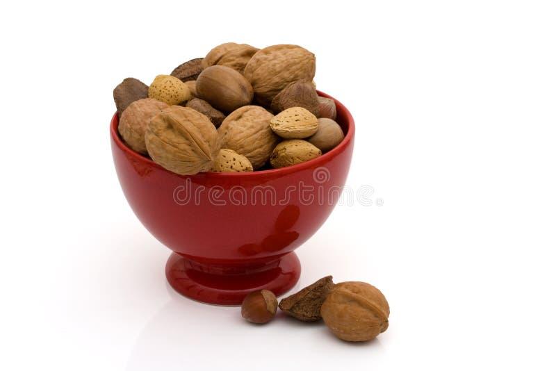 Une cuvette de noix mélangées saines photo libre de droits