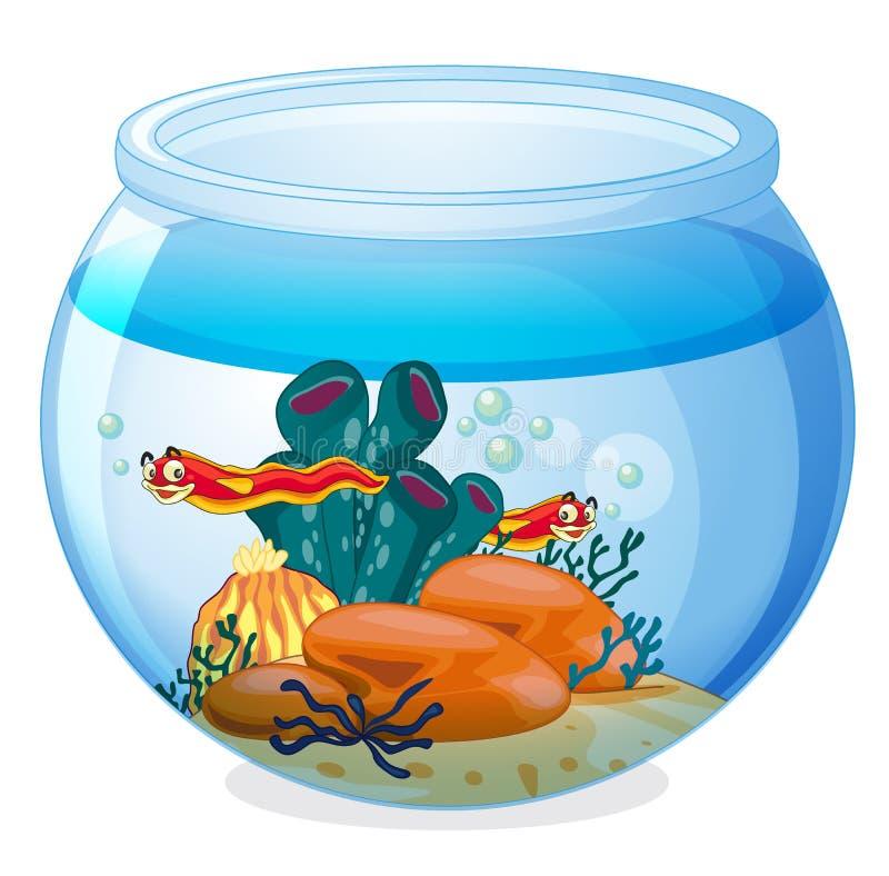Une cuvette et animaux de l'eau illustration libre de droits