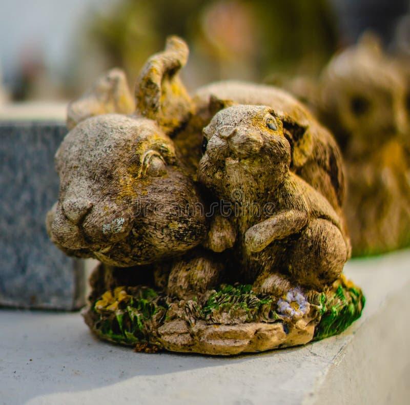 Une décoration grave ou une statue grave images stock