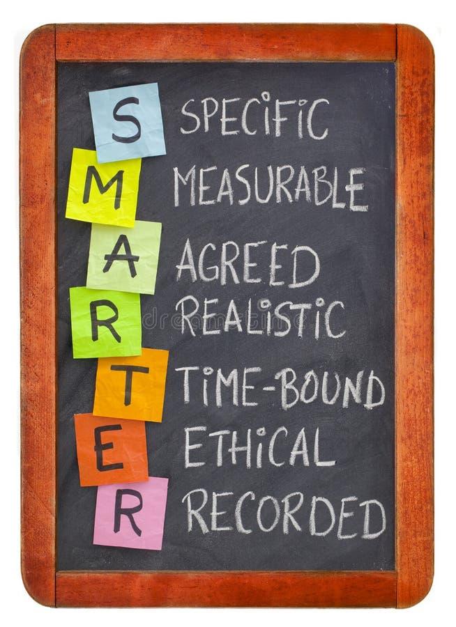 Une définition des objectifs plus futée de Smart illustration de vecteur