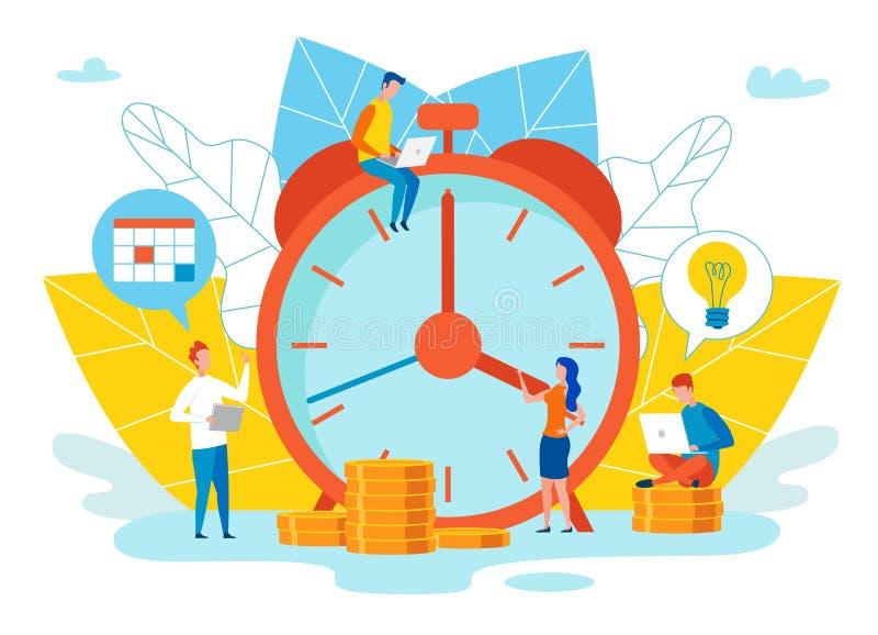 Une date-butoir objective de possibilit?s d'?valuation illustration stock