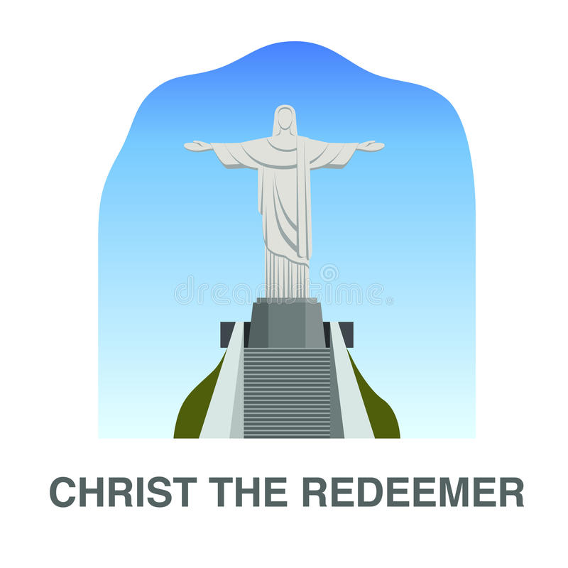 Une de nouvelles 7 merveilles du monde : Le Christ le rédempteur illustration libre de droits