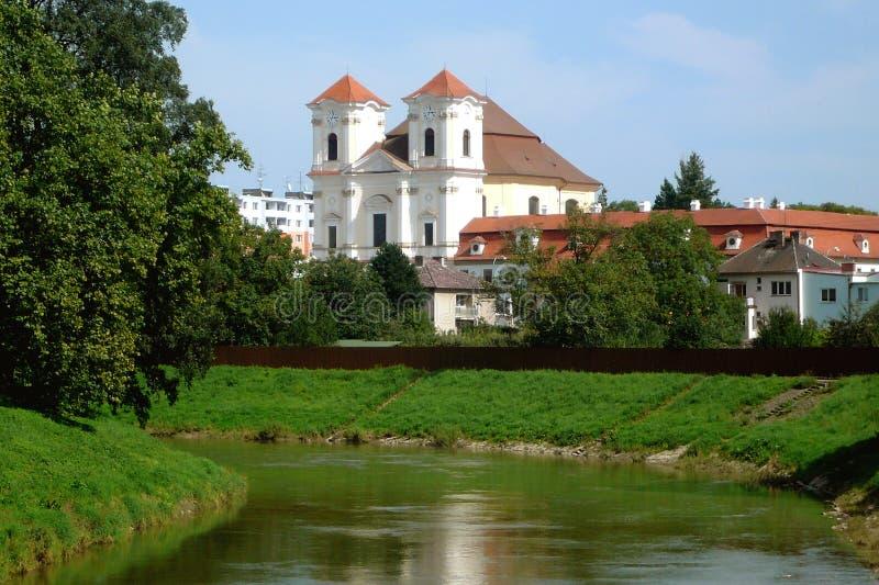 Une des églises dans le village Straznice de Moravian photos libres de droits