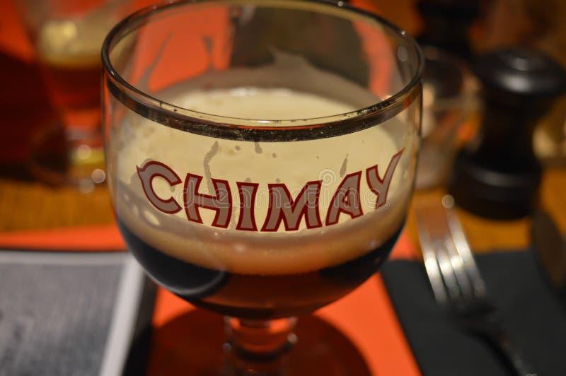 Une des bières célèbres de brasserie dans le bar à Gand, la Belgique le 5 novembre 2017 photo stock