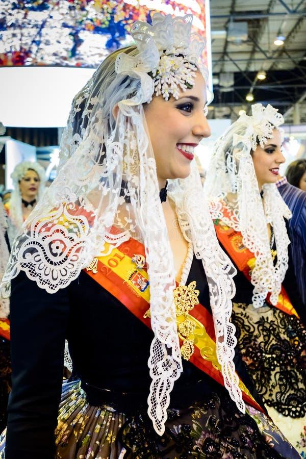 Une domestique de carnaval d'honneur d'Alicante image stock
