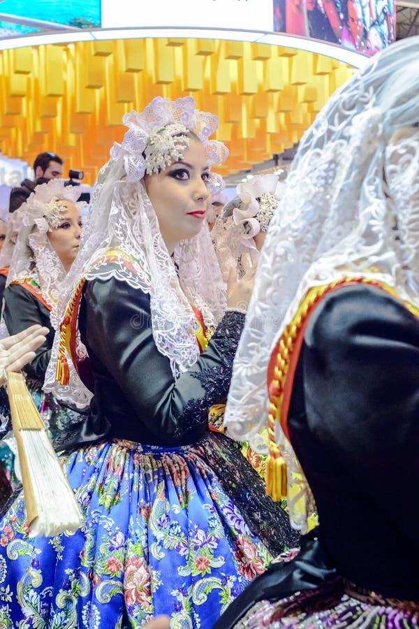 Une domestique de carnaval d'honneur d'Alicante photo stock