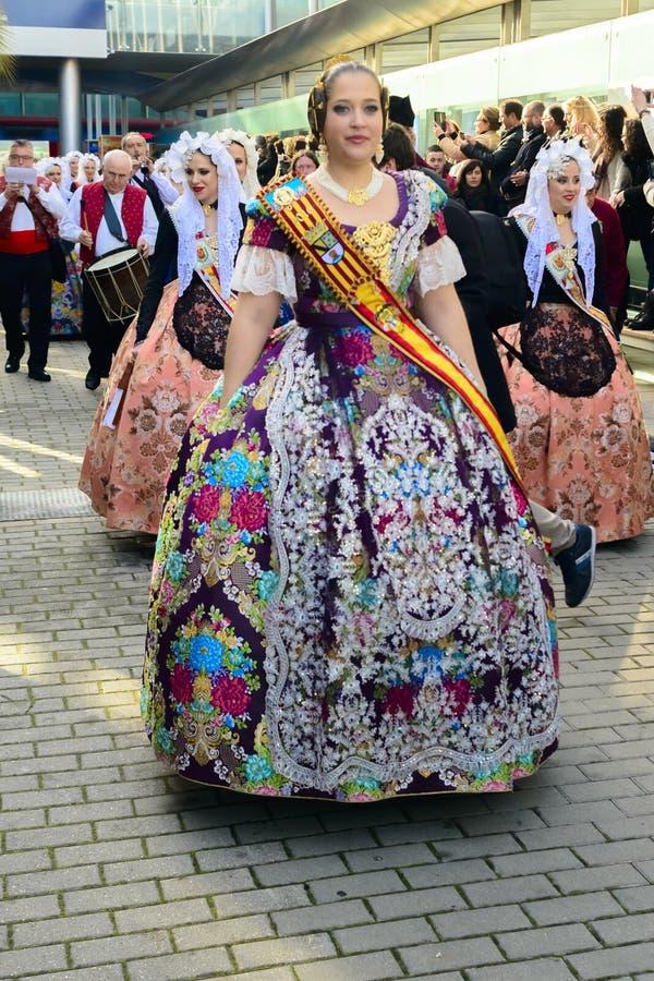 Une domestique de carnaval d'honneur d'Alicante photographie stock libre de droits