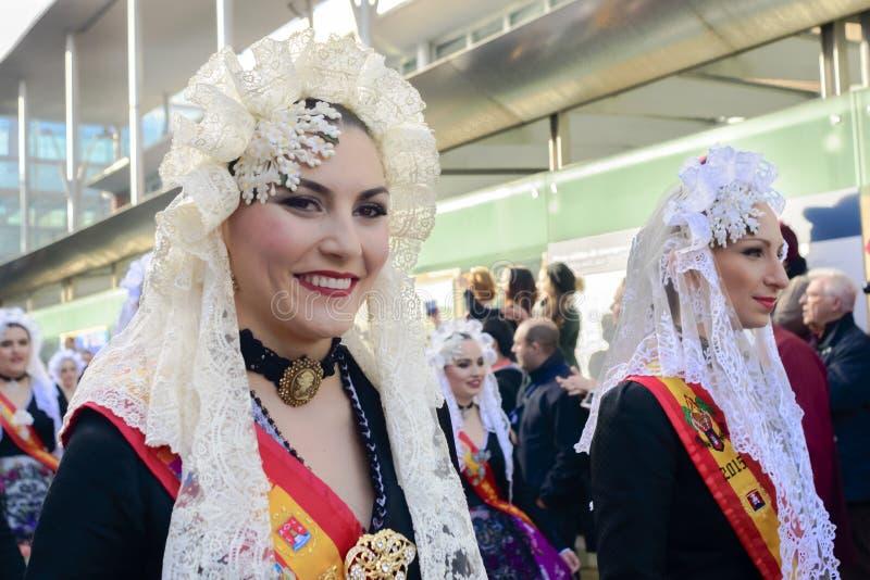 Une domestique de carnaval d'honneur d'Alicante photo libre de droits