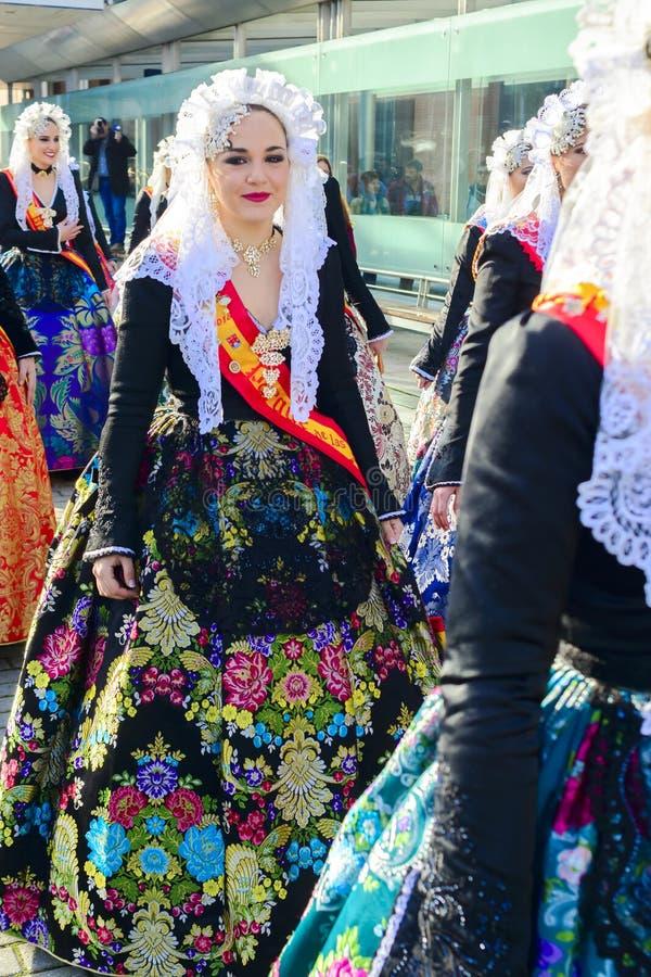 Une domestique de carnaval d'honneur d'Alicante photos stock