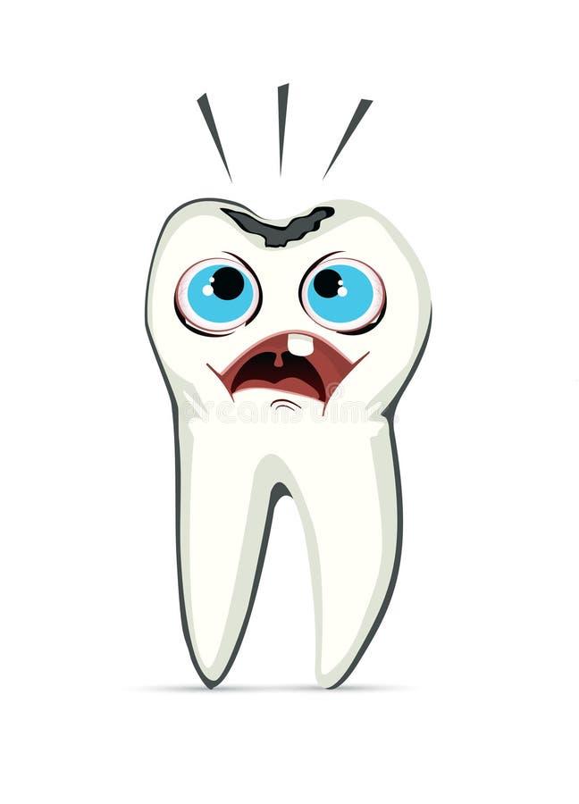 Une dent avec la cavité illustration libre de droits